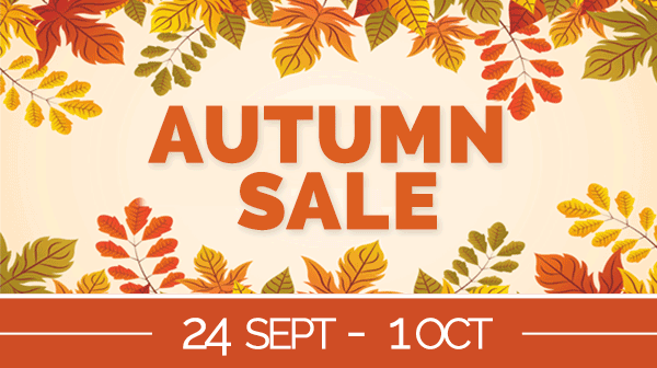 Autumn Sale - Now On - Get Further 10% Off Everything - From 24th Sept till 1st Oct